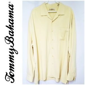 Tommy Bahama Silk Yellow Long sleeve Button Down